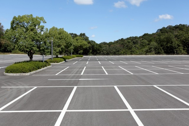 天王寺動物園の駐車場